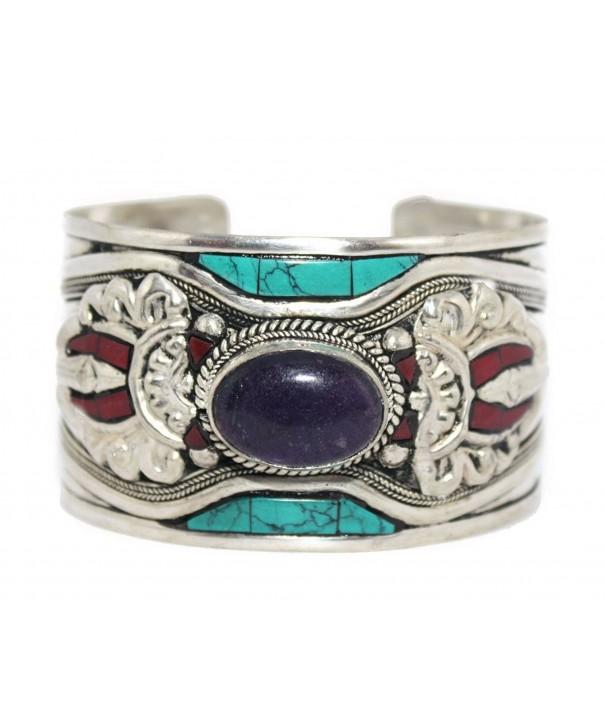 Amethyst Bracelet Turquoise Navajo BB351