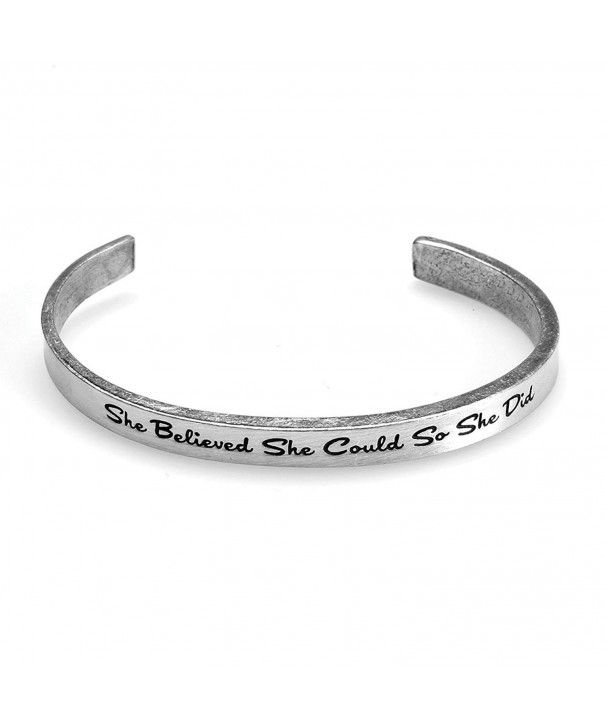 Womens Inspirational Lead Free Pewter Bracelet