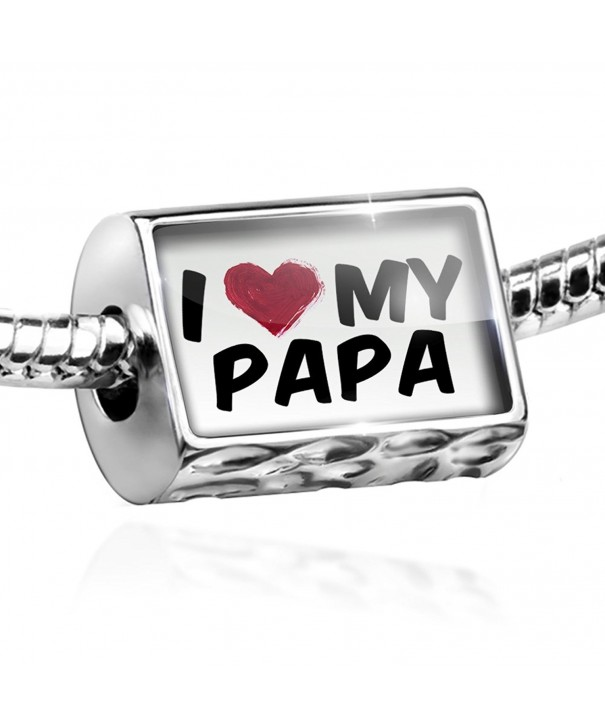 Bead heart Charm European Bracelets