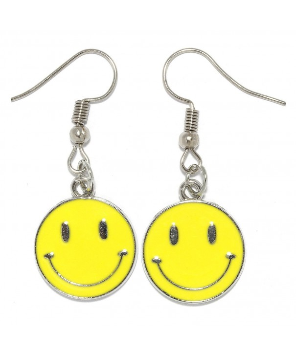 Dangle Earrings Smiley Circle AnsonsImages
