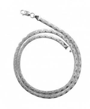 Designed Herringbone Necklace Italian Sterling