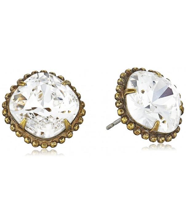 Sorrelli Crystal Cushion Cut Solitaire Earrings
