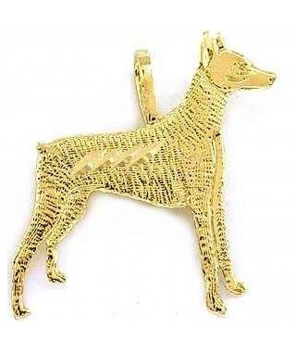 Yellow Doberman Pinscher Charm Jewelry