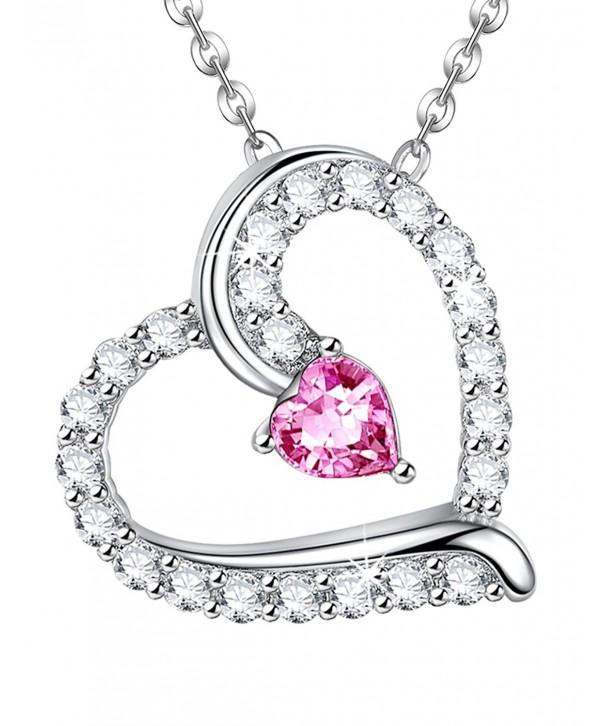 811f821e0 Anniversary Sapphire Swarovski Necklace Birthstone - Pink Sapphire ...