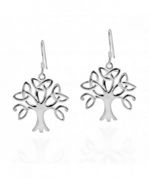 Sterling Silver Trinity Triquetra Earrings