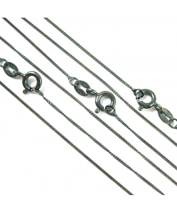 Sterling Silver Oxidized Chain Necklace