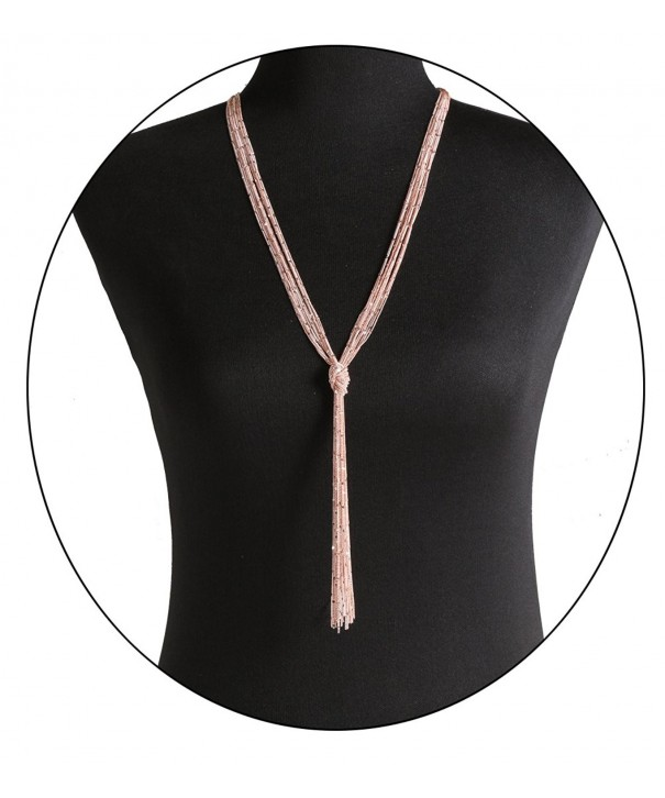 ELEARD Necklace Knotted Multichain Strands