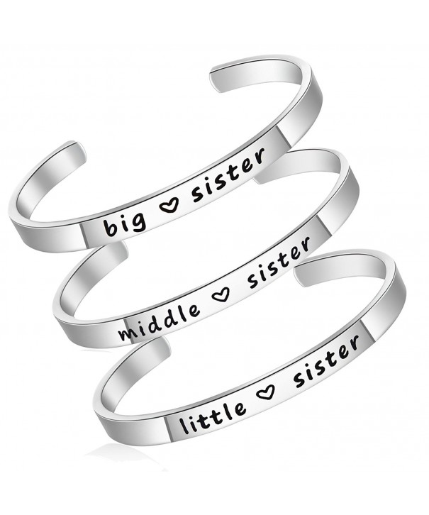 Personalise Stainless Bridesmaid Friendship 3pcs Silver Sister