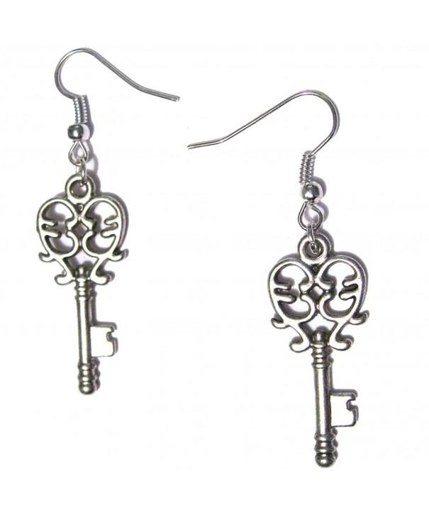 Filigree Dangle Silver Plated Earrings