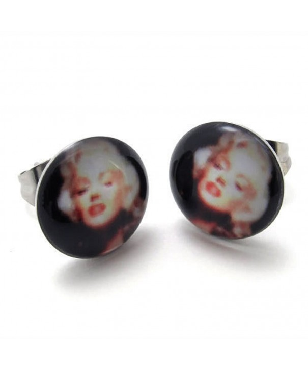 KONOV Stainless Marilyn Monroe Earrings