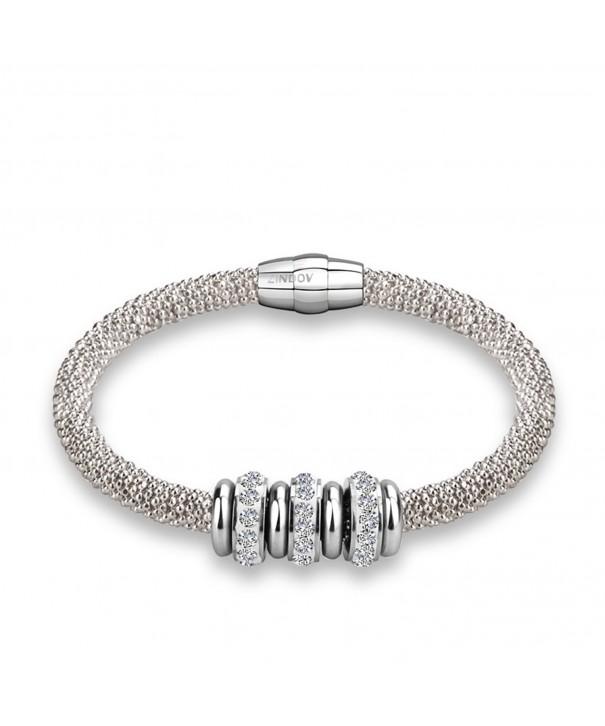 Diamond cut Popcorn Shot Chain Bracelet Magnetic