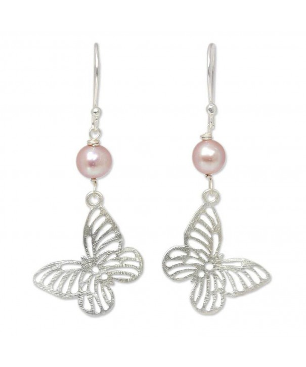 NOVICA Cultured Freshwater Sterling Butterfly