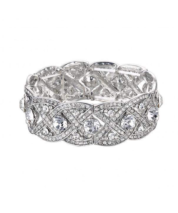 BABEYOND Wedding Silver Tone Bracelet Austrian