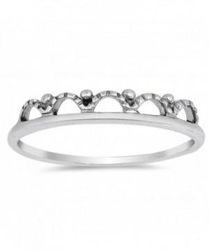 Oxidized Crown Princess Sterling Silver