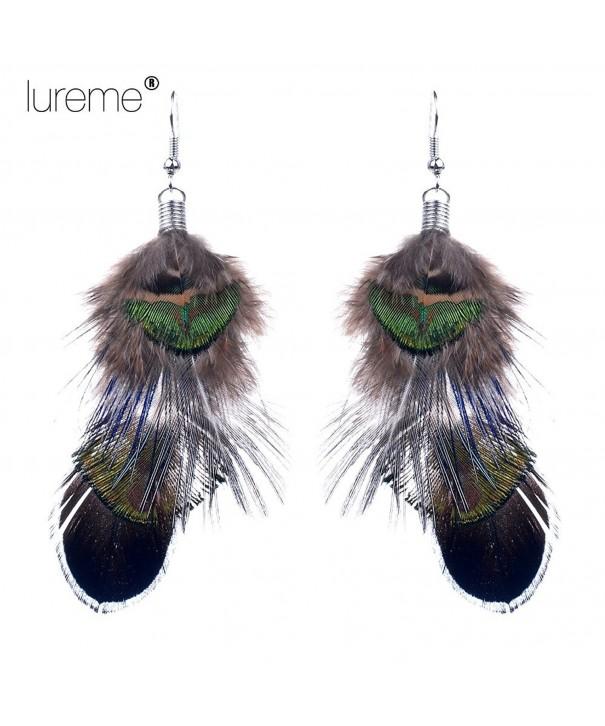 Multicolored Peacock Bohemian Earrings 02003503