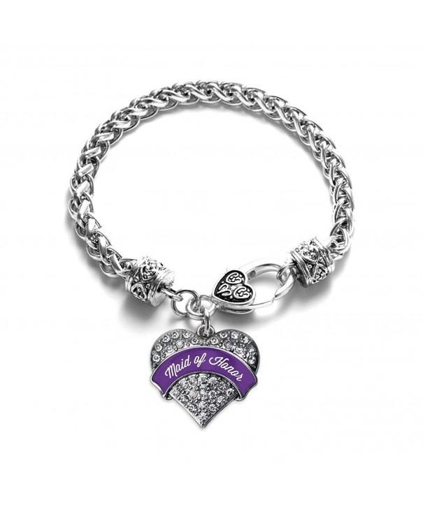 Purple Bracelet Silver Lobster Crystal