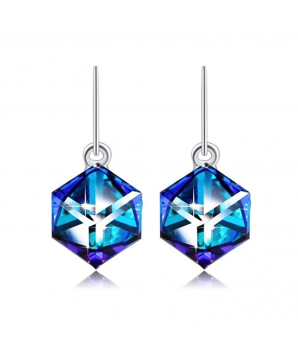 Earrings PLATO Swarovski Crystal Birthday