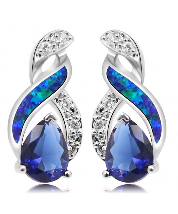Sterling Silver Earring Sapphire Jewelry