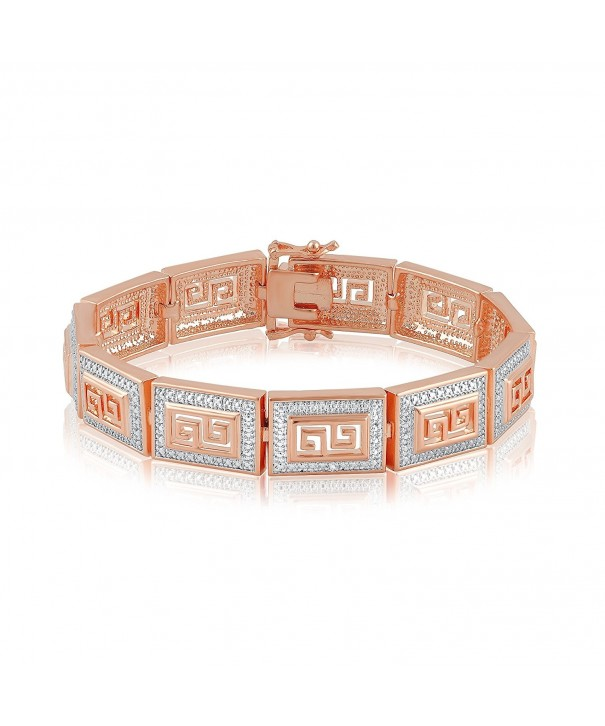 Diamond Accent Greek Key Bracelet