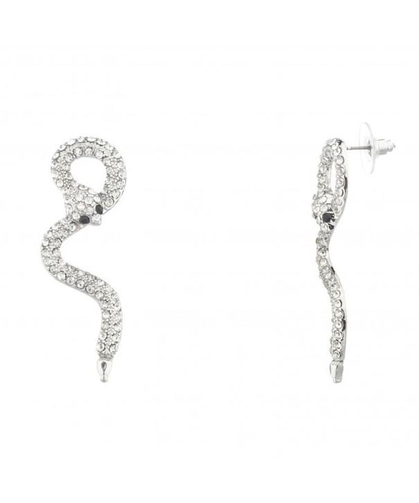 Lux Accessories Snake Serpent Earrings