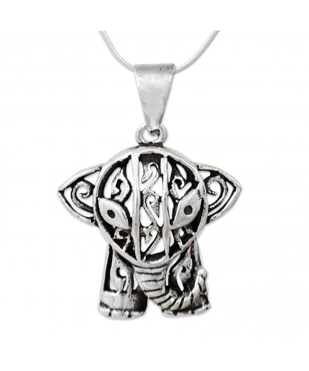 NOVICA Sterling Silver Necklace Elephant