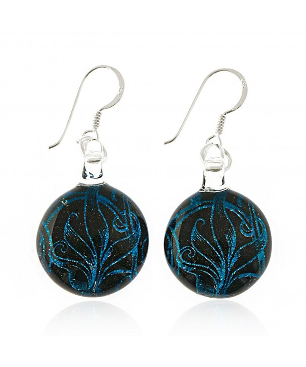Sterling Silver Painted Glitter Earrings