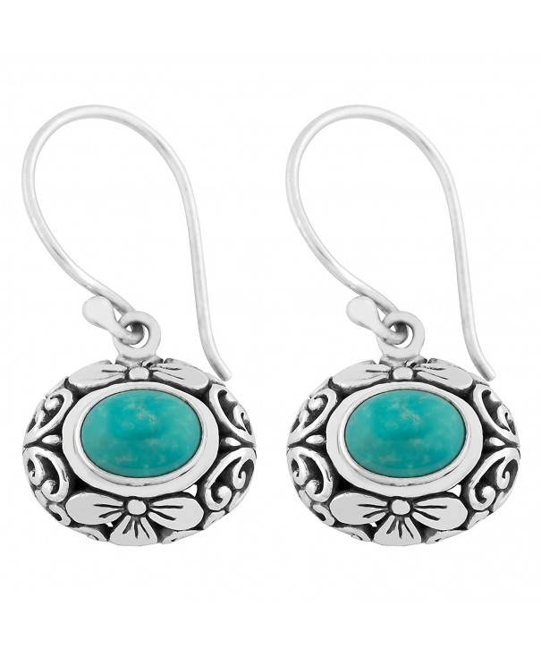 Artisanica Turquoise Sterling Silver Earrings