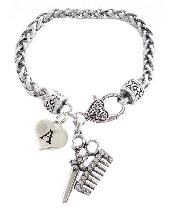 Crystal Stylist Scissors Bracelet Jewelry