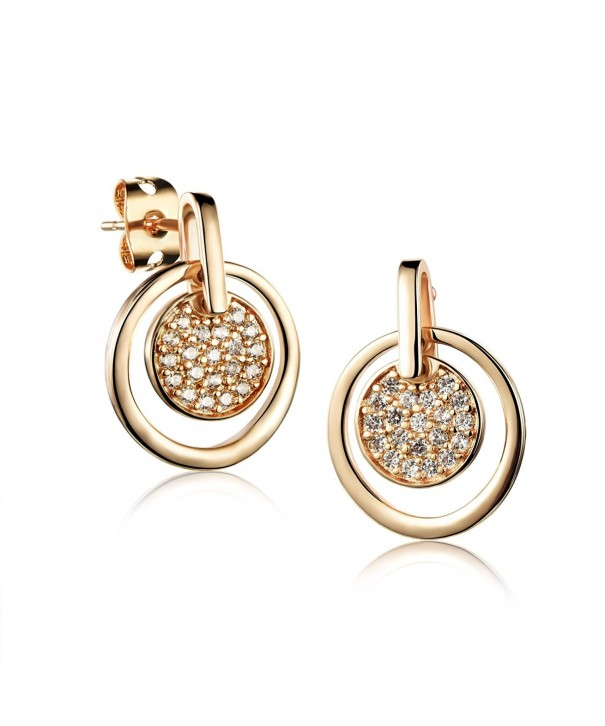 LOHOME Titanium Champagne Zircon Earrings
