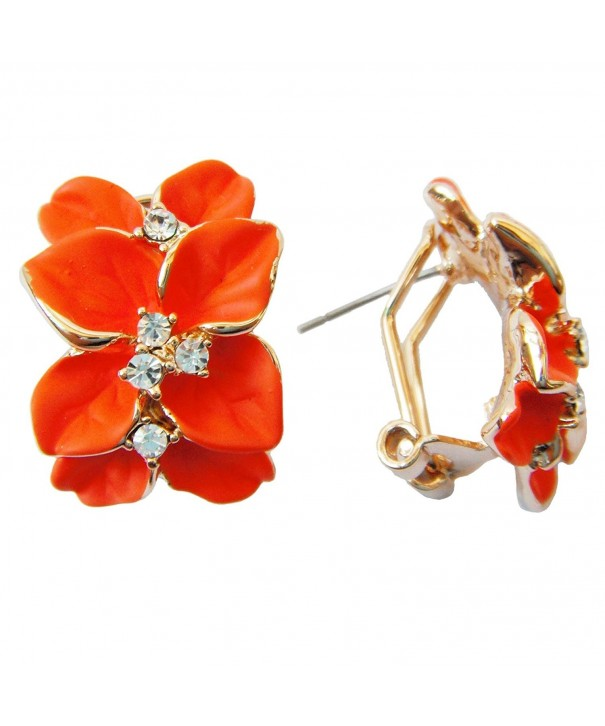Navachi Plated Crystal Orange Earrings