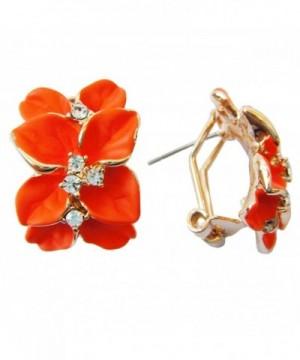 Navachi Plated Crystal Orange Earrings