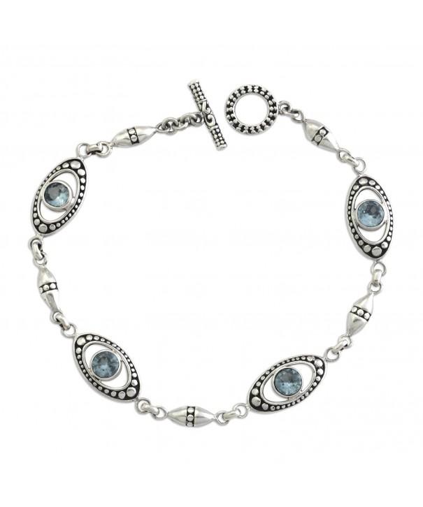 NOVICA Sterling Silver Bracelet Reflections