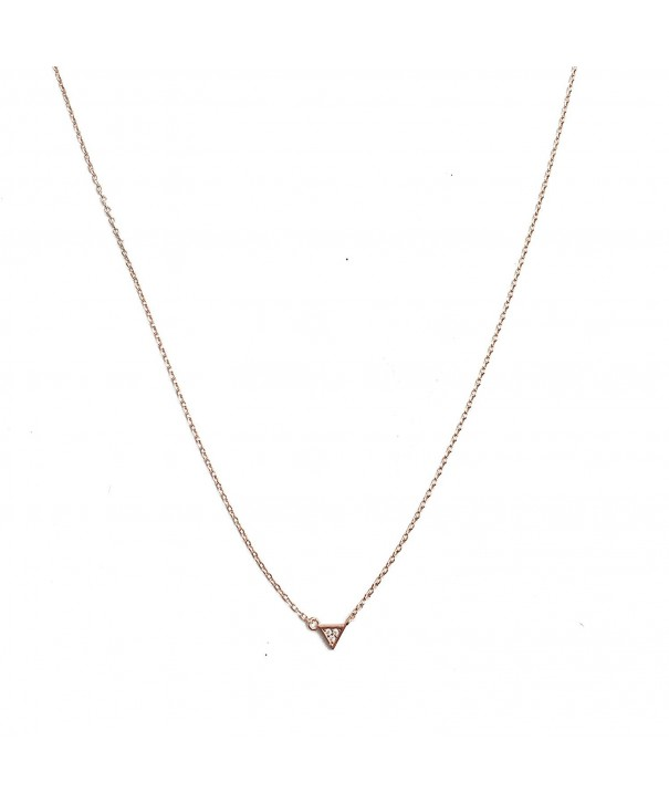 HONEYCAT Triangle Necklace Minimalist Delicate