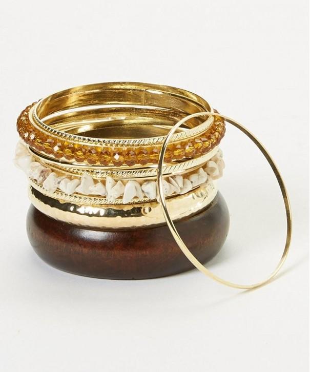 Lux Accessories Amber Bangle Bracelet