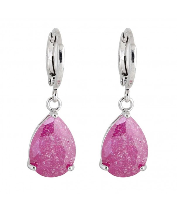 Exquisite Plated Eardrop Crystal Earring