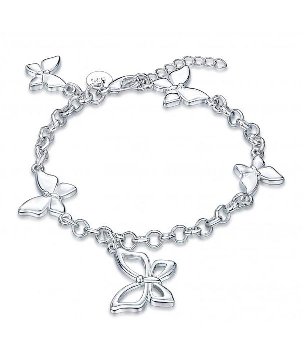 Valentines Filigree Butterfly Lobster Bracelet