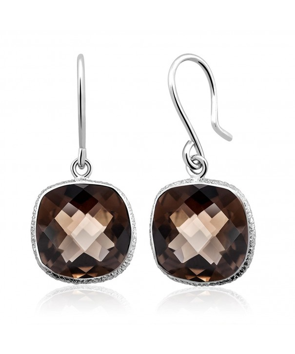 Sterling Silver Cuchion Checkerboard Earrings