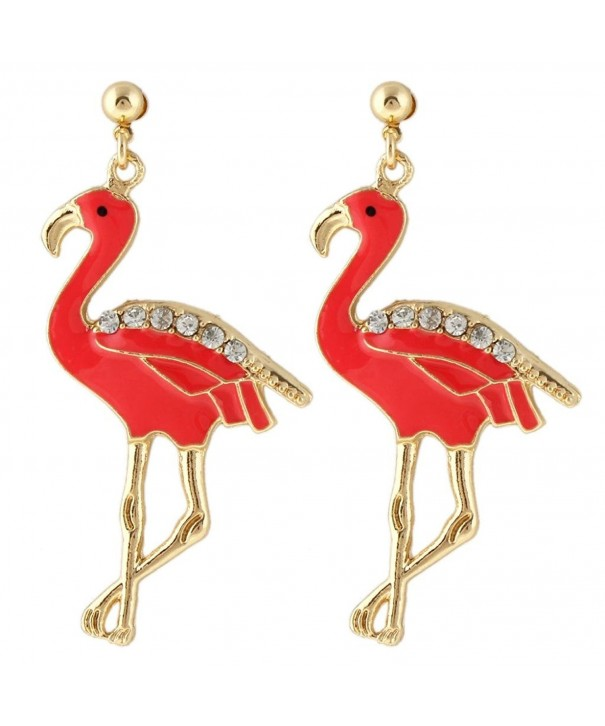 EVER FAITH Austrian Flamingo Gold Tone