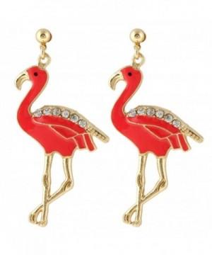 EVER FAITH Austrian Flamingo Gold Tone