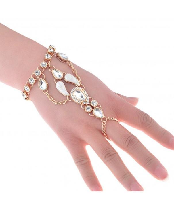 SUNSCSC Crystal Rhinestone Harness Bracelet