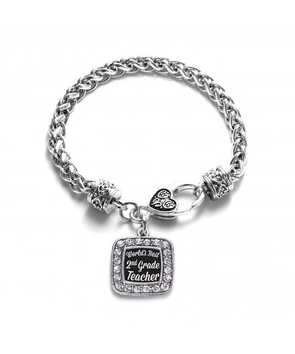 Teacher Classic Silver Crystal Bracelet