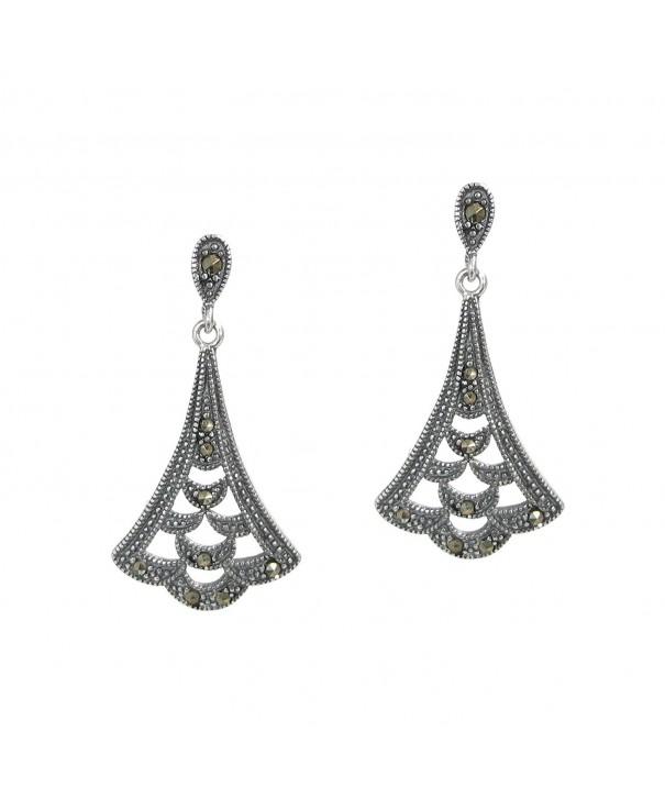 Sterling Silver Chandelier Earrings Marcasit