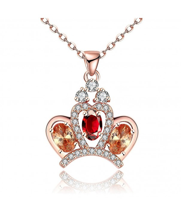 Mealove Princess Crystal Pendant Necklace