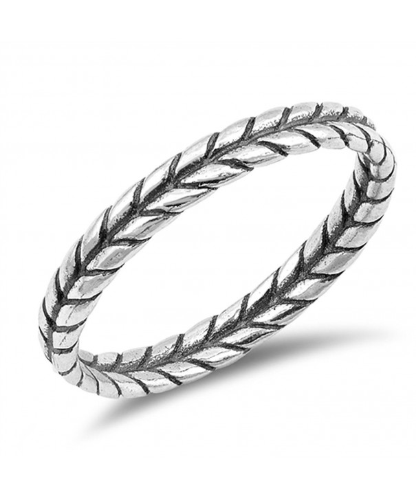 Thin Braid Thumb Sterling Silver