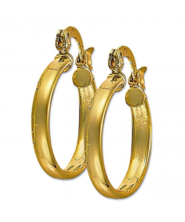 Plain Hoop Yellow Plated Earring
