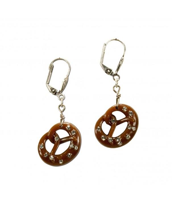 Bavarian Earrings Pretzel brown Traditional