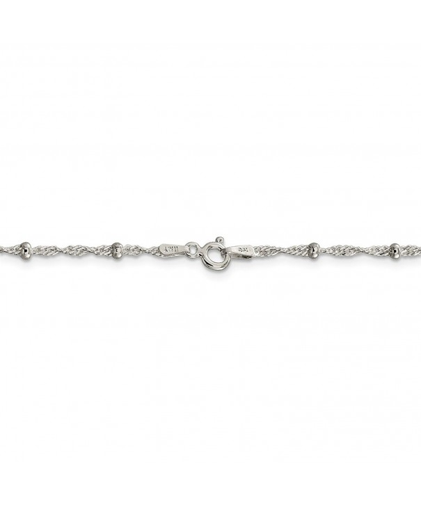 Sterling Silver Fancy Twist Necklace