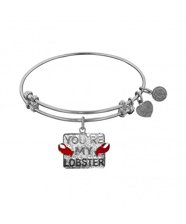 Angelica Rhodium Friends Lobster Bracelet