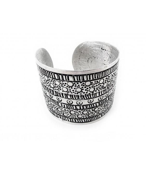 Maisha Trade Hammered Antiqued Bracelet
