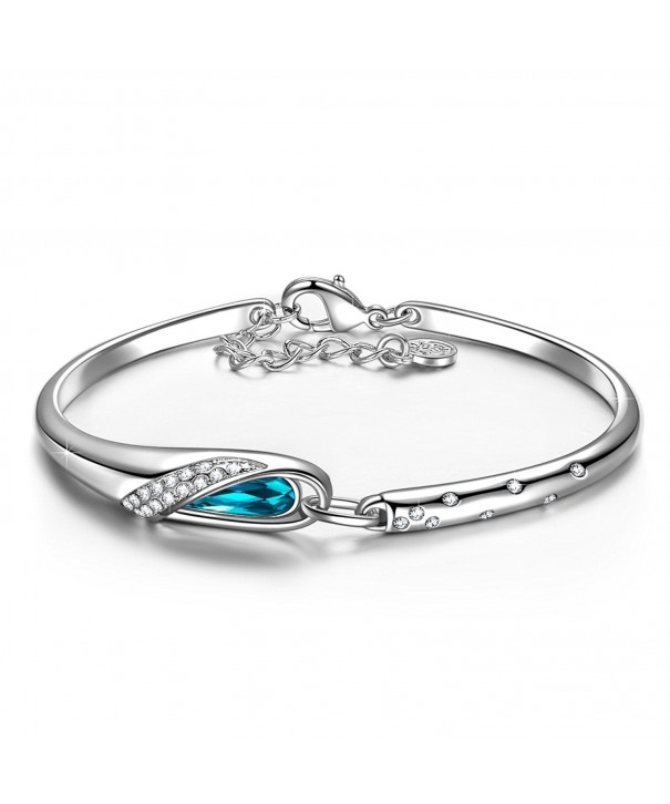 QIANSE Bracelets Swarovski Anniversary Girlfriend